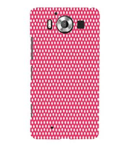 Pyar Pink Dot 3D Hard Polycarbonate Designer Back Case Cover for Nokia Lumia 950 :: Microsoft Lumia 950