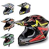 HECHT Motocrosshelm 55915 Motorrad-Helm Enduro ABS Quadhelm (M (57 - 58 cm), schwarz / rot / gelb)