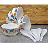 Sarthak Uphaar Plastic Microwave Safe Soup Bowl Set (12)