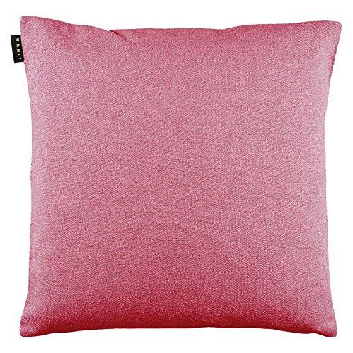 Linum Kissenhülle PEPPER D43 rosé 40cm x 40cm uni 100% Baumwolle mit Reißverschluss