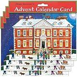 Alison Gardiner Pack de 4 Calendarios tradicionales de Adviento - Casa de Campo de Navidad