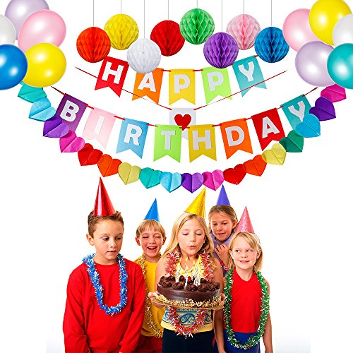 HusDow Happy Birthday Decorations Supplies