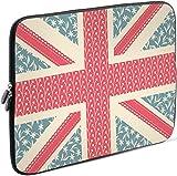 Sidorenko Laptop Tasche für 17-17,3 Zoll | Universal Notebooktasche Schutzhülle | Laptoptasche aus Neopren, PC Computer Hülle Sleeve Case Etui, Rosa/Blau