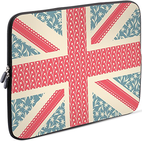 Sidorenko Tablet PC Tasche für 10-10.1 Zoll | Universal Tablet Schutzhülle | Hülle Sleeve Case Etui aus Neopren, Blau/Rosa