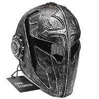 b17afed889b0 OneTigris, Maschera tattica protettiva copriviso da templare da uomo,  01TG-525, nero, 11,41