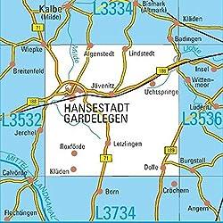 L3534 Hansestadt Gardelegen Topographische Karte 1:50000: DTK50 Sachsen-Anhalt