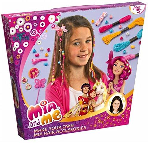 Mia and Me Bastel-Set Haarschmuck Haarbänder für Mädchen - mit Bändern, Perlen und verschiedenen Anhängern