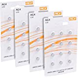 Pack 48 Batterias AG4 1.5V, Batteria a Bottone al Litio, LR626, LR66, 177, GP77A, 377, SR626W, ST626SW