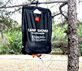 Ailiebhaus Portable 20L PVC Outdoor Camping Solarenergie Shower Bag Solardusche Wasser Beutel (Schwarz) - 2