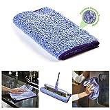 Pure-Sky Magic Ultra Mikrofaser Handtuch - NUR Wasser Keine Reinigungsmittel nötig - Mehrzweck-Mikrofibre Towel - Aufsteckbar für Mikrofasermopp, oder Handmikrofasertücher zur Reinigung aller Oberflächen