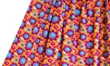 LILLESTOFF Mädchen Stoff Mehrfarbig Blumenwiese Nähen