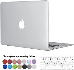 TECOOL MacBook Air 13 Hülle, [Ultra Slim Serie] Plastik Hartschale Schutzhülle Snap Case und Silicon Tastatur Abdeckung für Apple MacBook Air 13,3 Zoll Modell: A1466 and A1369 - Klar