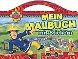 Feuerwehrmann Sam Mein Malbuch mit Stickern -