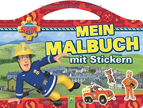 Feuerwehrmann Sam Malbuch mit Stickern thumbnail
