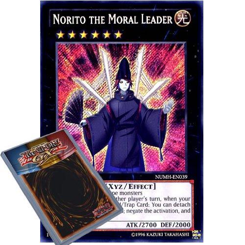 YuGiOh : NUMH-EN039 1st Ed Norito the Moral Leader Secret Rare Card - ( Number Hunters Yu-Gi-Oh! Single Card )