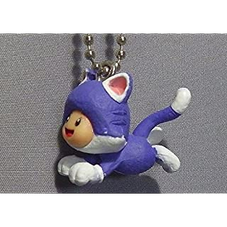 Super Mario 3-D world Mascot Swing Figure Keychain~Cat Toad 22mm