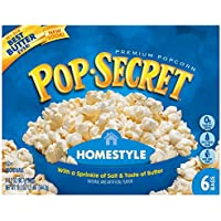 Microwave Popcorn, Homestyle, 3.5 oz Bags, 6 Bags/Box, Sold as 1 Box