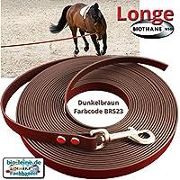 Longe Longierleine für Pferde 16mm aus Beta BioThane®, Pferdelonge für Reitsport, 5 Meter lang in Dunkelbraun