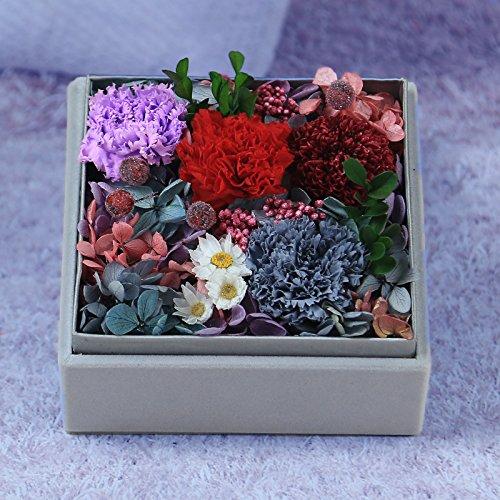 LKKLILY valentine S Day Cadeau pour la fête d'œillet Carnation Boîte de carton pour femme Cadeau d'anniversaire