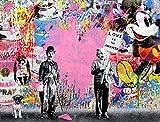 "Orlco Art Graffiti Art Toile Banksy Graffiti Peinture Einstein Art Prints Street Urben Peinture Art Coloré, rose, 40"" X 28"" (100cm X 70cm) With the Frame"