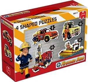 Jumbo Sam Le Pompier 4 en 1 Puzzles de Sol