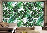 Yosot Vintage Mode Tapete Grün Blatt Von Hand Gemalten Hintergrund 3D Tapete-300Cmx210Cm