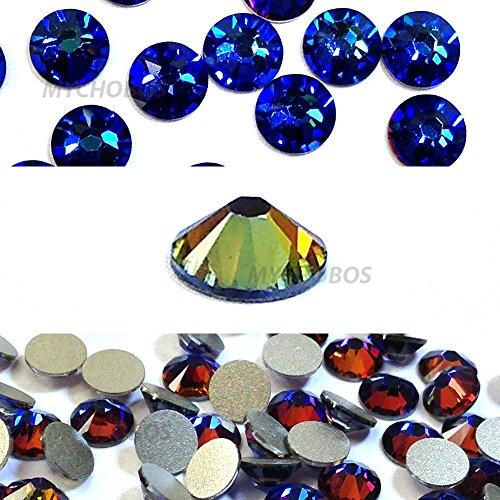 Crystal Meridian Blue (001MBL) Swarovski 2058Xilion/New 2088Xirius 16SS flatbacks keine hotix Nail Art Strass 4mm SS16* * kostenfrei Versand aus Jet (280) * *, blau - Art Nail Supplies Usa