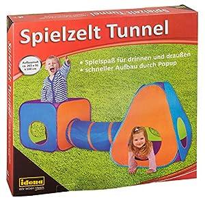 Tienda de Juegos Idena 40118 con túnel para niños, Apta para Interior y Exterior, Aprox. 265 x 95 x 100 cm