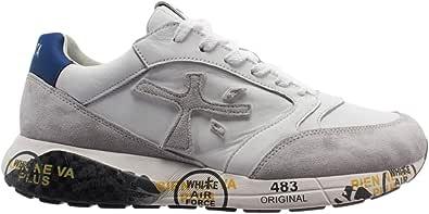 PREMIATA Sneakers Uomo Zaczac Bianco Rosso e Blu - ZACZAC 4555 - Taglia