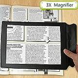 Funwill Lupe A4-Formatfür eine komplette Seite 3-fache Vergrößerung Lesehilfe Lupe ideal zum Lesen von Büchern und Zeitungen