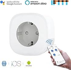 Presa Intelligente Wi-Fi da 16A Potenza 3680W Gestione Elettrodomestici da Remoto tramite App Android e Ios Compatibile con Alexa, Google Assistant e IFTTT Smart Plug MSS210 da Meross