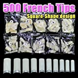 500pcs Natural French Nail Tips (Square) CODE: #431AN by Beauties Factory