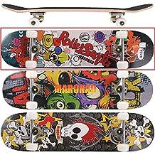 [Maronad.GCP] - Skateboar, rodamiento de bolas ABEC 7, 80A, rueda de PU, madera de arce de 9 capas, 79 x 20 cm, Modell Skateboard: Bug