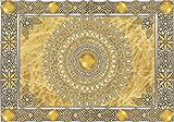 VLIESFOTOTAPETE Fototapete Tapete Wandbild Vlies | Welt-der-Träume| Goldene Mandala | VEXXL (312cm. x 219cm.) | Photo Wallpaper Mural 10373VEXXL-AW | Mandala Indien Indisch Orient Orientalisch Gold