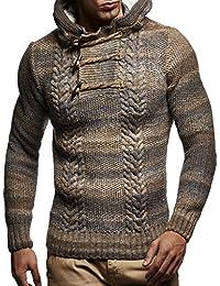 LEIF NELSON Herren Pullover Hoodie Kapuzenpullover Strickpullover  Sweatpullover Longsleeve Sweatshirt Pulli LN20743  Gr e XL, 5423921506