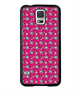 Fuson Premium 2D Back Case Cover Floral Pattern With Yellow Background Degined For Samsung Galaxy S5 Mini::Samsung Galaxy S5 Mini G800F