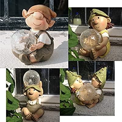 Andy & Lily Solar Powered Colour Changing figurine Garden Troll Ornament Light