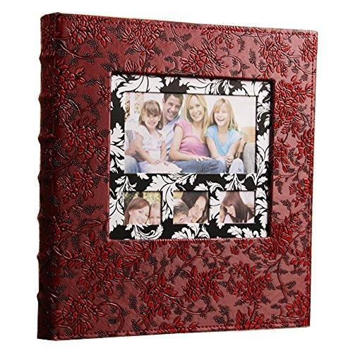 Ksmxos Rahmen Cover Foto Album 600Taschen für 4x 6Fotos DK. Rot