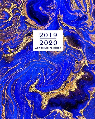 Royal Blue Swirl (2019 - 2020 Academic Planner, 2019-2020 Weekly Planner, 12 Months, July 2019 - June 2020: Gorgeous Royal Blue & Gold Marbled Swirl Monthly Dated ... Checklists, Notes and Goal Setting Pages)