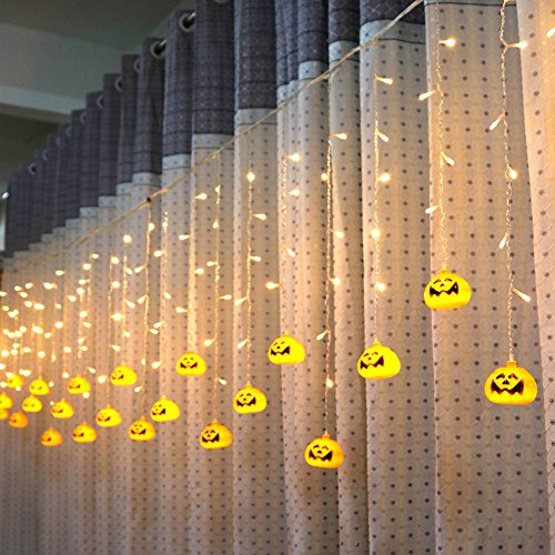 ette Fee-Schnur-Pumpkin -Licht Garten Halloween Benbeleuchtung inner Licht Ghost Beleuchtung fur Party, Weihnachten Fest Deko usw - Warmweiß (Led Pumpkin Ghost)