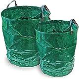 CampTeck 300 & 500 Litri Sacchi per Rifiuti da Giardino Robusta Polipropilene Riutilizzabile Borsa da Giardino