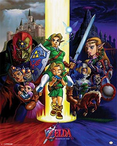 Poster The Legend Of Zelda - Ocarina Of Time, 40 x 50 cm
