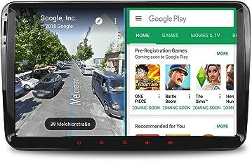 "Neu Produkt A-SURE 9"" 2GB RAM Android 8.1 32GB ROM Octa Core Auto GPS Navigation Autoradio 4G LTE Wifi Mirror-link DVR DAB+ OBD PX5 für VW Passat Golf 5 6 Touran Tiguan Multivan T5 Polo Jetta Caddy Seat Skoda (KH9W7) 2-Jahre-Garantie"
