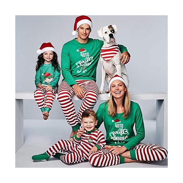 YOFASEN Pijamas Navideños Familiares - Ropa de Dormir para Mujeres Hombres Bebé Niño Invierno Algodón Pijamas Dos Piezas… 3