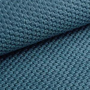 NOVELY® MAKAO - moderner und kuscheliger Möbelstoff mit 3D-Wabenmuster - ULTRAWEICH (10 | Rauch Blau)