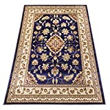 WEBTAPPETI Orient Teppiche Kirman Perser Dessin Teppich SALON 757-BLU 300X500