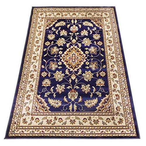 Webtappeti tappeto orientale kirman tappeto disegno persiano salon 757-blu 160x230
