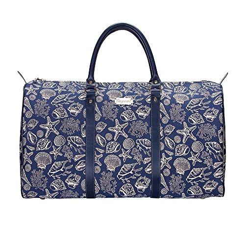 Bunte große Reisetasche von Signare / Gobelin-Gepäcktasche für Reisen und Sport / Meeresschale (BHOLD-SHELL) -