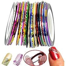 Leisial™ 30pcs DIY Nail Tools del Color Pegatinas de Uñas Trazado Calidad la Cinta Decoración del Clavo Etiqueta Engomada Arte Estrenar