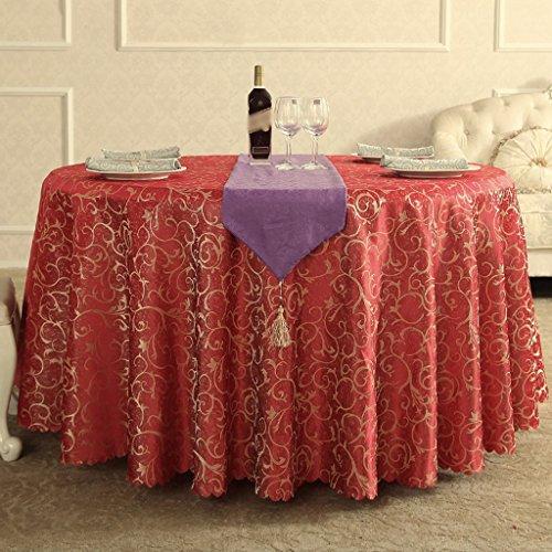 BSNOWF- Nappes Banquet Réunion de mariage Accueil Nappe de table Restaurant Activités Place Exposition Stand Nappe Fibre chimique Taille de tissu En option ( Couleur : E , taille : Round-220cm )